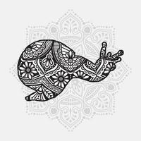 mandala animal. éléments décoratifs vintage. motif oriental, illustration vectorielle.