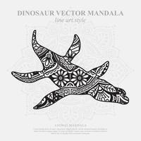 mandala de dinosaure. éléments décoratifs vintage. motif oriental, illustration vectorielle. vecteur