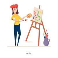 avatar artiste féminin vecteur