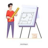 avatar architecte masculin vecteur