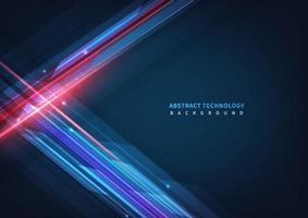 technologie abstraite géométrique chevauchant le fond de conception de mouvement de ligne haute vitesse avec espace copie pour le texte vecteur