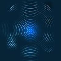 motif de cercles lumineux de lignes bleues abstraites sur fond sombre. vecteur