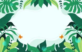 fond de feuilles tropicales vecteur