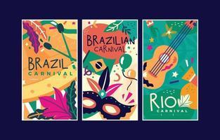bannière illustration colorée de vecteur pour le carnaval de rio brésil