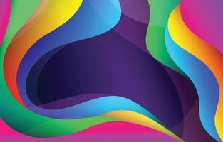 fond dynamique coloré vecteur