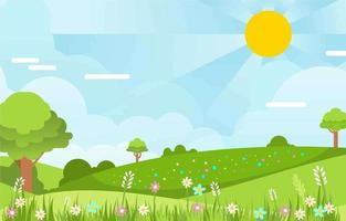 fond de paysage de printemps vecteur