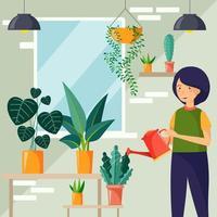 concept de jardinage écologique vecteur