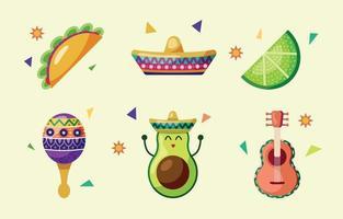 collection d'icônes cinco de mayo