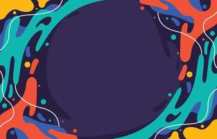 fond liquide splash coloré abstrait vecteur