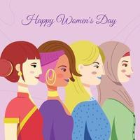 concept de la journée des femmes de la diversité vecteur