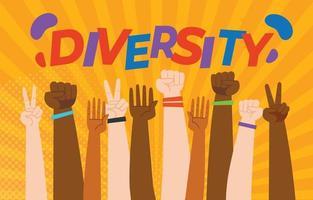 conception de la diversité culturelle vecteur