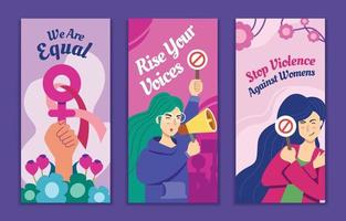 bannière de sensibilisation de la journée des femmes vecteur