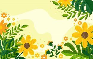 fond de fleur de printemps vecteur