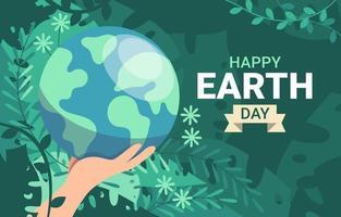 conception de jour de la terre heureux vecteur