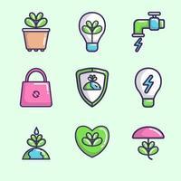 collection d'icônes du jour de la terre
