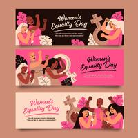 collection de bannières de la journée de l'égalité des femmes vecteur