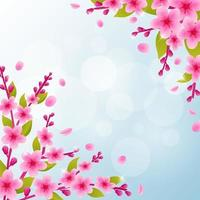 fond de fleur de cerisier vecteur