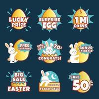 étiquette de marketing de Pâques