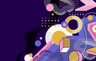 fond de formes abstraites violet et rose vecteur