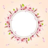 illustration réaliste de fleurs de cerisier vecteur