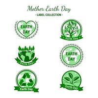 ensemble de conception d & # 39; étiquettes représentant le jour de la terre vecteur