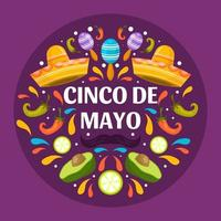 Fête colorée de cinco de mayo