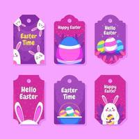 jolie étiquette-cadeau de Pâques