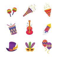 icône de fête de carnaval de rio vecteur