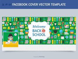 Modèle de vecteur de couverture Facebook enseignant