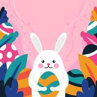 illustration de lapin de pâques vecteur