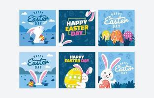 bannière de médias sociaux pour le jour de pâques