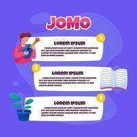 illustration infographique de jomo vecteur