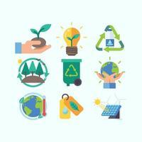 ensemble d & # 39; icônes de jour de la terre vecteur