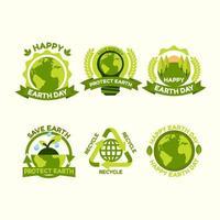 ensemble d & # 39; icônes de la journée de la terre vecteur
