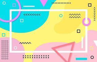 fond abstrait coloré géométrique vecteur