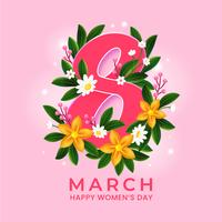 concept de mars de la journée des femmes dans un style réaliste vecteur