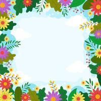 fond de printemps floral vecteur
