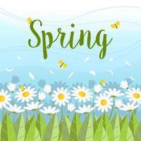 le printemps arrive vecteur