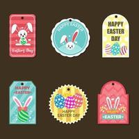 étiquette de pâques avec badge coloré