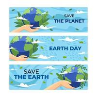 bannière pour le jour de la terre