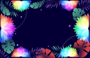 fleurs de lotus colorées vecteur