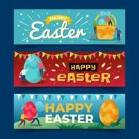 bannières de fête de pâques