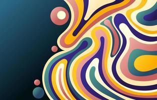 fond abstrait coloré à base d'eau liquide vecteur