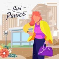 femmes qui travaillent en attente d & # 39; un concept de bus vecteur