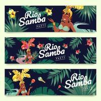 femme à rio samba party vecteur
