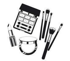 ensemble de produits de maquillage vecteur