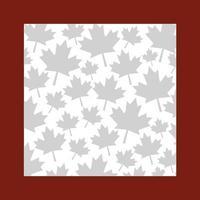 conception de cadre feuille d'érable du canada vecteur