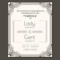 Vecteur d'invitation de mariage