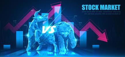 concept de marché boursier vecteur