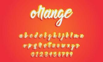 vecteur de l & # 39; alphabet de polices stylisées